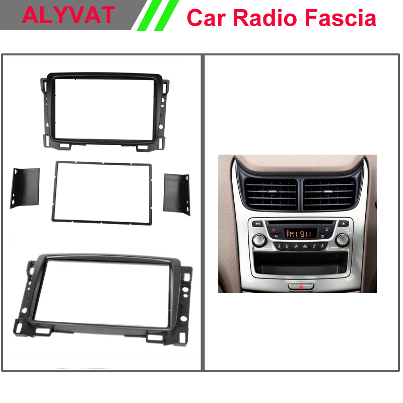 Double Din Fascia For Chevrolet Sail 2005 2006 2007 + Radio DVD Stereo Panel Dash Mount Install Trim Kit Refit Frame