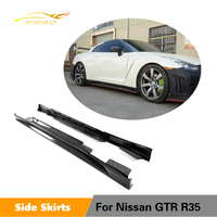 Carbon Fiber Side Skirt For Nissan R35 GTR Coupe GT R ZE Door Step Cover Racing Body Kit