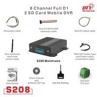 Comprar PAL NTSC soporte HDD H 264 móvil dvr 8ch con dos ranuras para tarjeta sd sistema