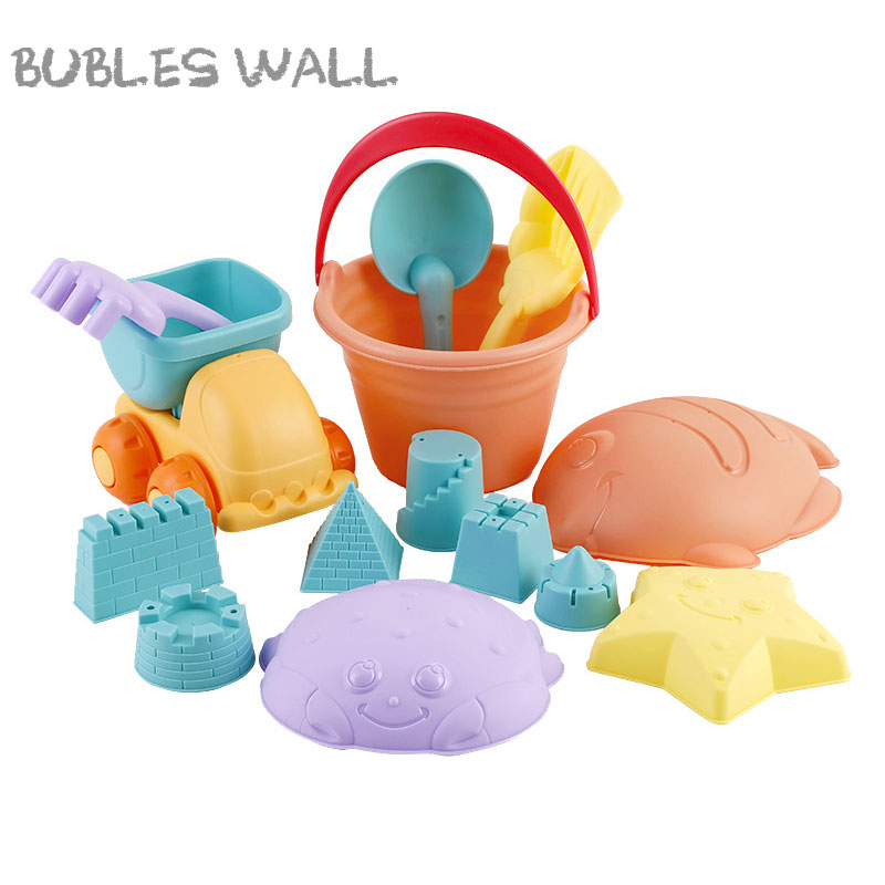 14Pcs Portable Soft Rubber Beach Toy Model Clay Set Outdoor Beach Toys Animal Mold Toy Play Sand Water Toys Kids Gifts