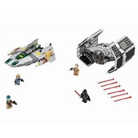 722pcs Diy Vader Tie Advanced VS A Wing Starfighter Set Sale Star Wars Blocks Compatible With