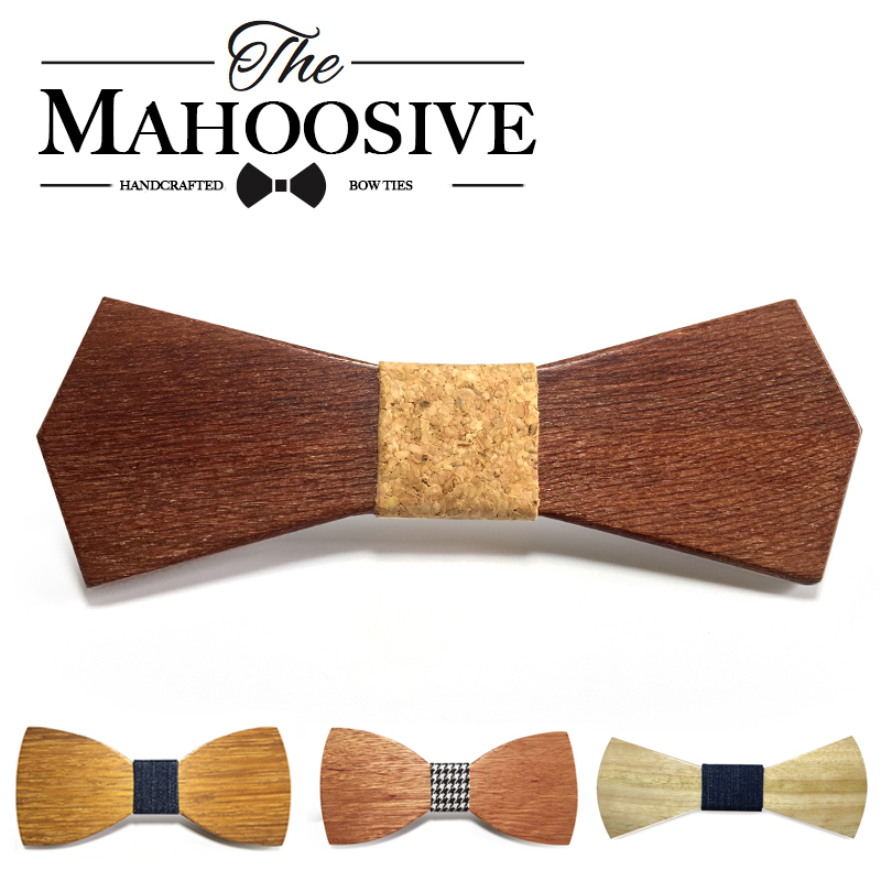 2017 Hot  Fashion Men Wooden Bow Tie Accessory Wedding Event Hardwood Wood Bow Tie For Men Butterfly Neck Ties Krawatte Gravata