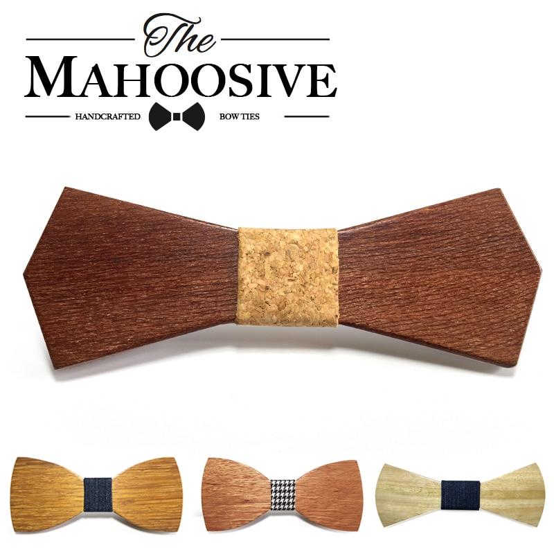 2017 Hot Fashion mannen houten strikje Accessoire bruiloft Evenement hardhout Hout Strikje Voor Mannen Vlinder Hals Ties krawatte Gravata