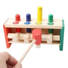 Забавный ворс водитель Упражнение рука-глаз координационные развивающие игрушки деревянные раннее образование просвещение удар трапеции игры