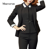 Women S 3 Piece Shirt Office Pants Business Jacket Vest Suits Formal Work Wear Sets Uniform