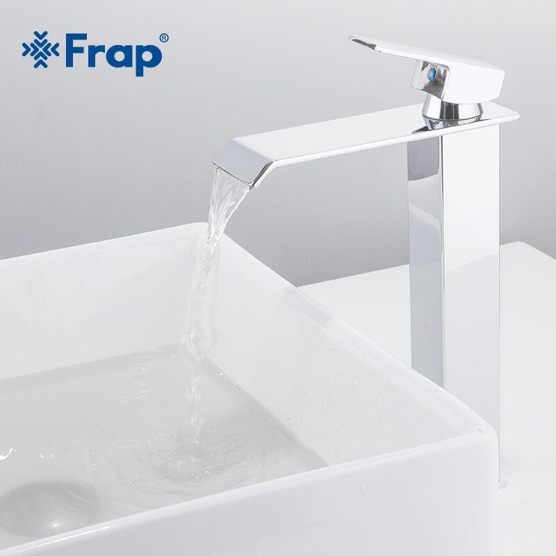 Frap nouveauté cascade robinet en laiton salle de bains robinet salle de bain bassin robinet grand mélangeur robinet chaud et froid évier robinet Y10145 - 2