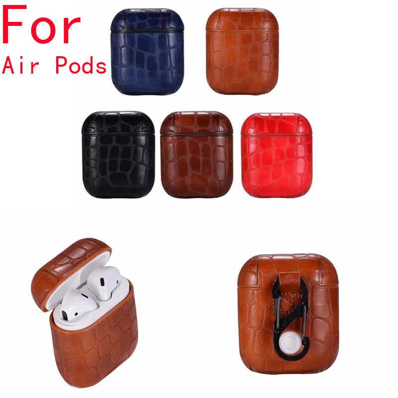 ل الهواء القرون حافظة ل أبل Airpods غطاء سماعة لاسلكية واقية حقيبة التخزين ل Airpods حالات غطاء Aipods Funda Erpods