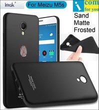 Imak Матовое Песок Case Обложка Для Meizu M5s M5 Примечание ТПУ Силиконовая Матовая Кожа Протектор Анти-отпечатков пальцев + Soft закаленное Стекло