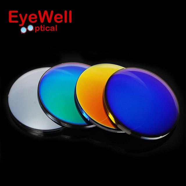 1.56 Мода Красочные Поляризованные UV400 Зеркало Отражающей Солнечные Очки По Рецепту Линзы Вождение Рыбалка Открытый Близорукость Очки