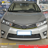 ANTEKE For Toyota Corolla 2014 2018 Car Styling Front Hood Middle Net Bumper Grille Frame Sticker Trim Exterior Accessories