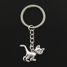 New Fashion Keychain 30x22mm cat Pendants DIY Men Jewelry Ca