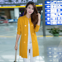 Women's Plus Size Clothing Women Spring Autumn O-Neck Double Breasted Knitted Cardigan Female Sweater Jacket
