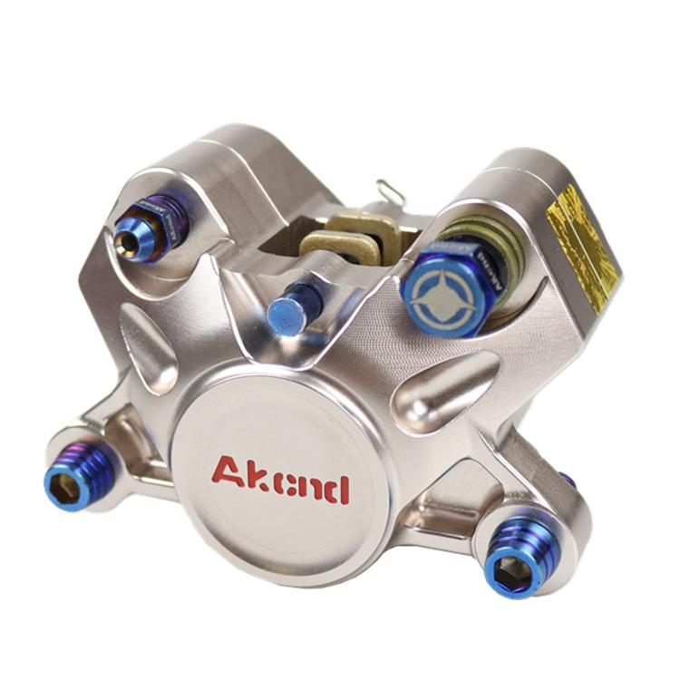 Motorcycle Brake Caliper Pump Original Akcnd 34mm*2 Piston/84mm Hole To Hole Install For Honda Yamaha Kawasaki Suzuki Modify keoghs motorcycle brake disc floating 220mm 70mm hole to hole for yamaha scooter honda modify