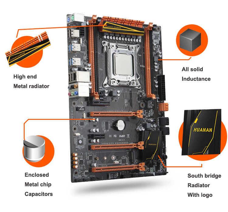 Thương hiệu lớn mới xuất hiện HUANAN TỬ Cao Cấp X79 chơi game Bo mạch chủ Bộ CPU Xeon E5 2620 V2 SR1AN RAM 32G (4*8G) DDR3 1600MHz REG ECC