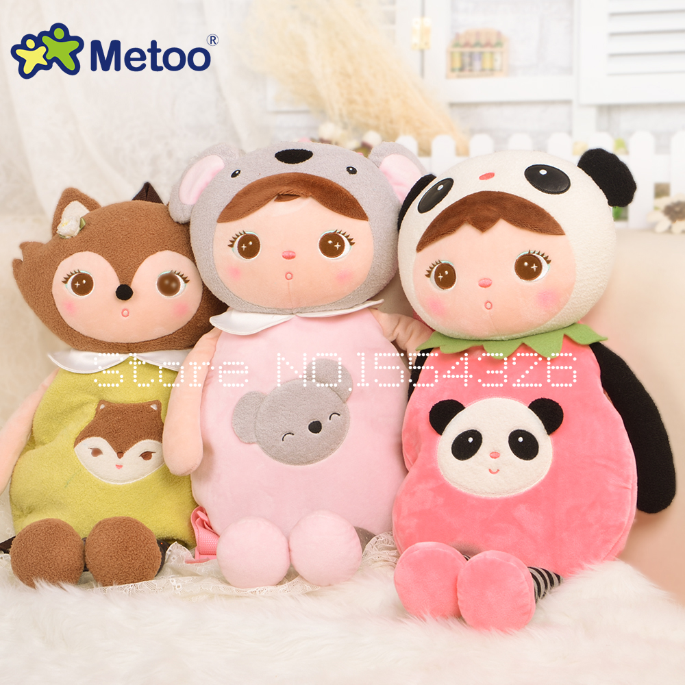 52cm Cute Koala panda Plush Cartoon Bags Kids Plush Backpack Metoo School Bags Children Shoulder Bag for Kindergarten Baby GIFT