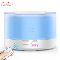 500ml Remote Control Essential Oil Aroma Diffuser Ultrasonic Air Aroma Humidifier With LED Lights Electric Aromatherapy