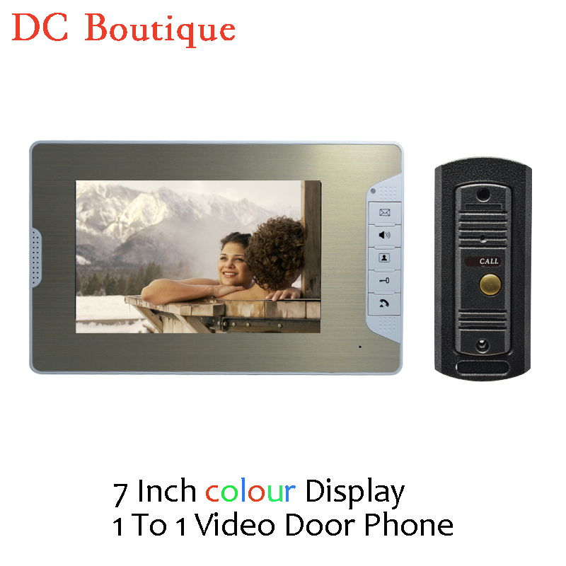 (1 set) Door Intercom Talkback System HD Camera Night Version One to One Monitor Video Door Phone Access Control Drawbench face 1 set hd 7 inch colorful display aluminium case one to one video door phone system rfid card unlock wired intercom camera