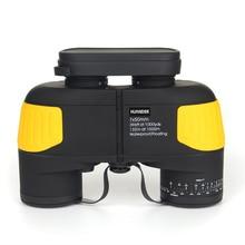 Cheap price HUANDEE 7X50 HD Marine Binoculars Zoom Rangefinder Telescopes Eyepiece Waterproof Nitrogen Army Binocular telescope HBT002