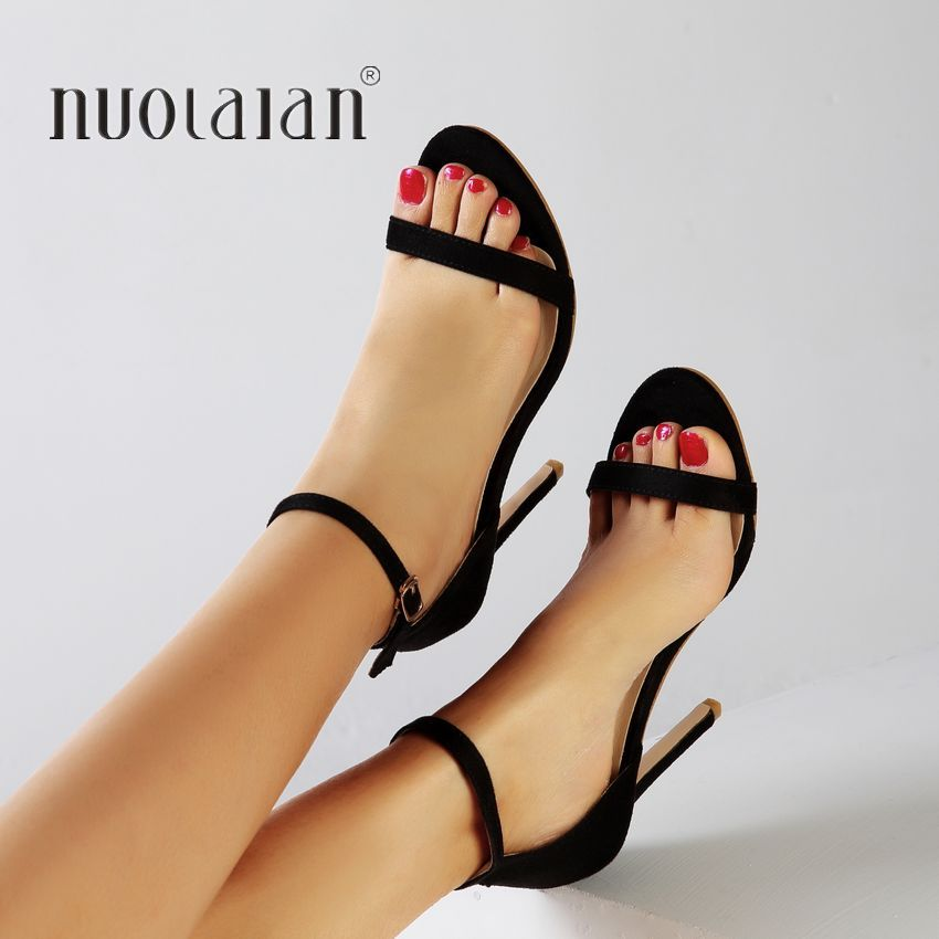 fa70b1d8fe3d 2019 Fashion Summer Women Sandal Sexy High Heels sandals Ankle Strap Women s  Shoes Peep Toe High