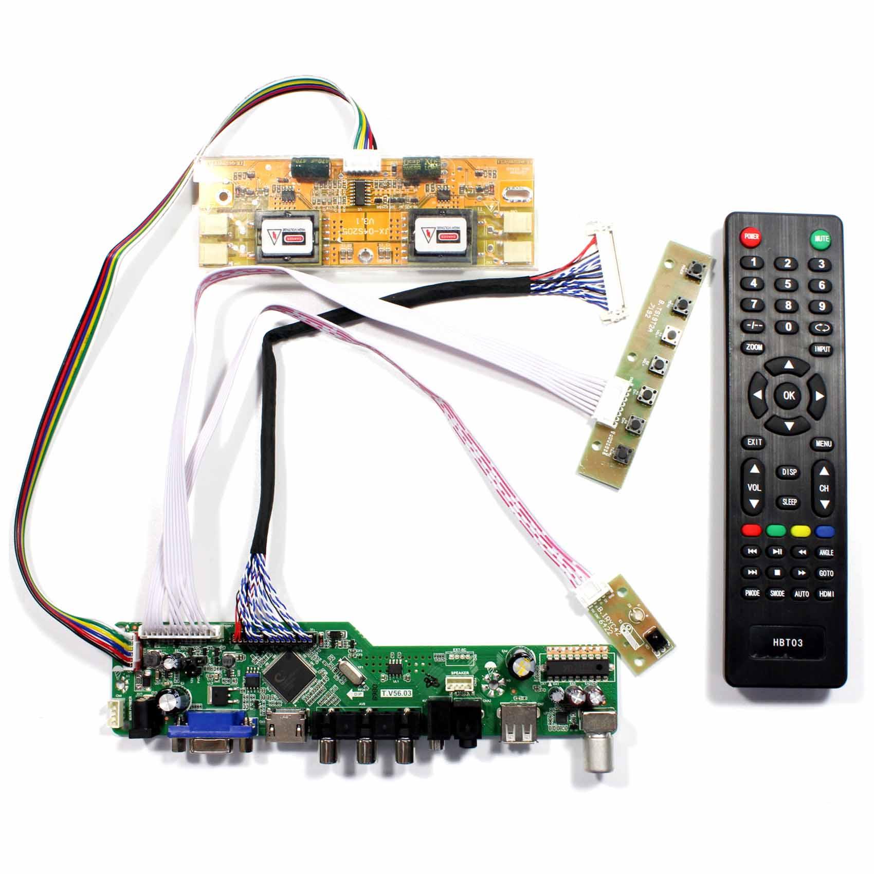TV HDMI VGA AV USB AUDIO LCD Controlador Board Para 20.1 22 M201EW02 V1 M201EW02 V8 M201EW02 V9 m220EW01 1680x1050 Tela de LCD