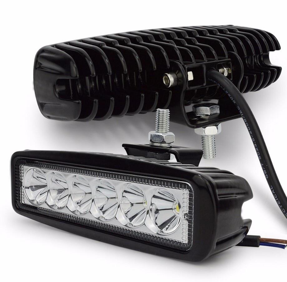 1/2Pcs 6 inch 18W LED Work Light Flood Beam Spotlight Truck Light For Jeep Motorcycles Offroad 4x4 ATV 4WD SUV UAZ Car Fog Light