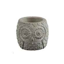 Silicone Concrete Flowerpot Mold Owl Pattern Succulent Plants Cement Mould Handmade Pen Holder Desktop Decoration Tool