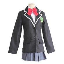 Brdwn your name Taki Tachibana Mitsuha Miyamizu Cosplay Costumes Japan school uniform suit (shirt+(coat)+dress/pants+tie/bowtie)