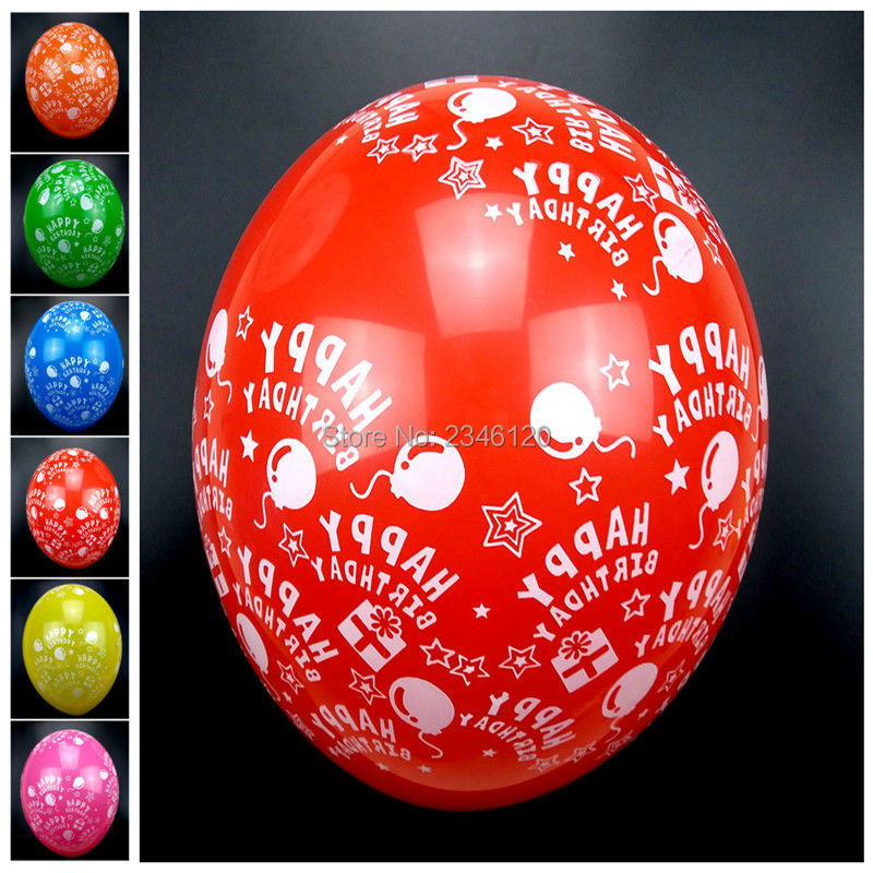50pcs Happy birthday balloons for children's birthday party decoration 12inch 2.