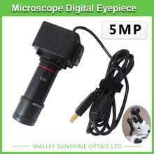 5MP Бинокулярный Стерео Микроскоп Электронный Окуляр USB Видео Камера CMOS Промышленные Окуляр Камеры для Захвата Изображения