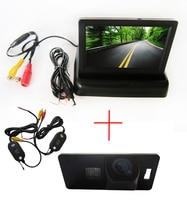 Беспроводной цветной CCD автомобильная камера заднего вида для AUDI A1 / A4 ( B8 ) / A5 S5 Q5 TT / VW PASSAT R36 5D 4.3 дюймов складной LCD TFT монитор