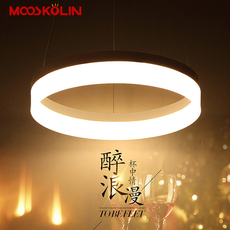 New modern Simple LED pendant lights Kitchen acrylic+metal suspension hanging ceiling lamp for dinning room lamparas colgantes