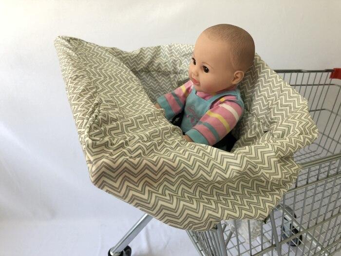 5 цветов Материал персиковый; кожа, вельвет Стандартный детский размер, корзина для покупок, стульчик для кормления и удобные корзину Обложка для младенцев и детей ясельного возраста - Цвет: Gray wave