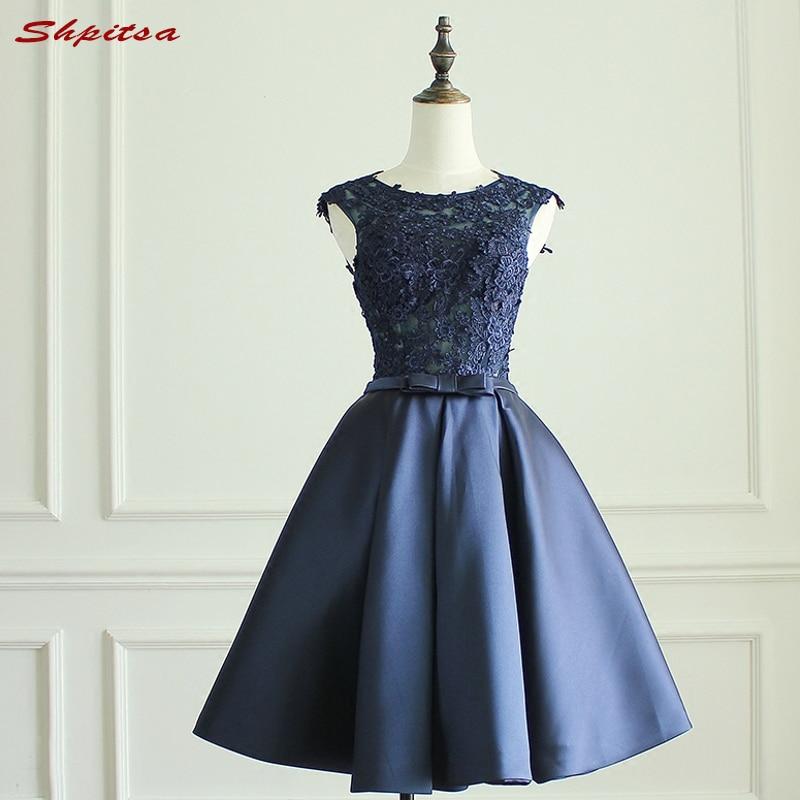 Sexy Navy Blue Short Lace   Cocktail     Dresses   Womens Prom Coctail   Dress   for Party   Dress   jurk vestidos de coctel renda