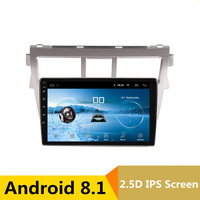 92.5D IPS Android 8.1 Car DVD Multimedia Player GPS For Toyota Vios YARIS 2008 2009 2010 2013 audio car radio stereo navigation