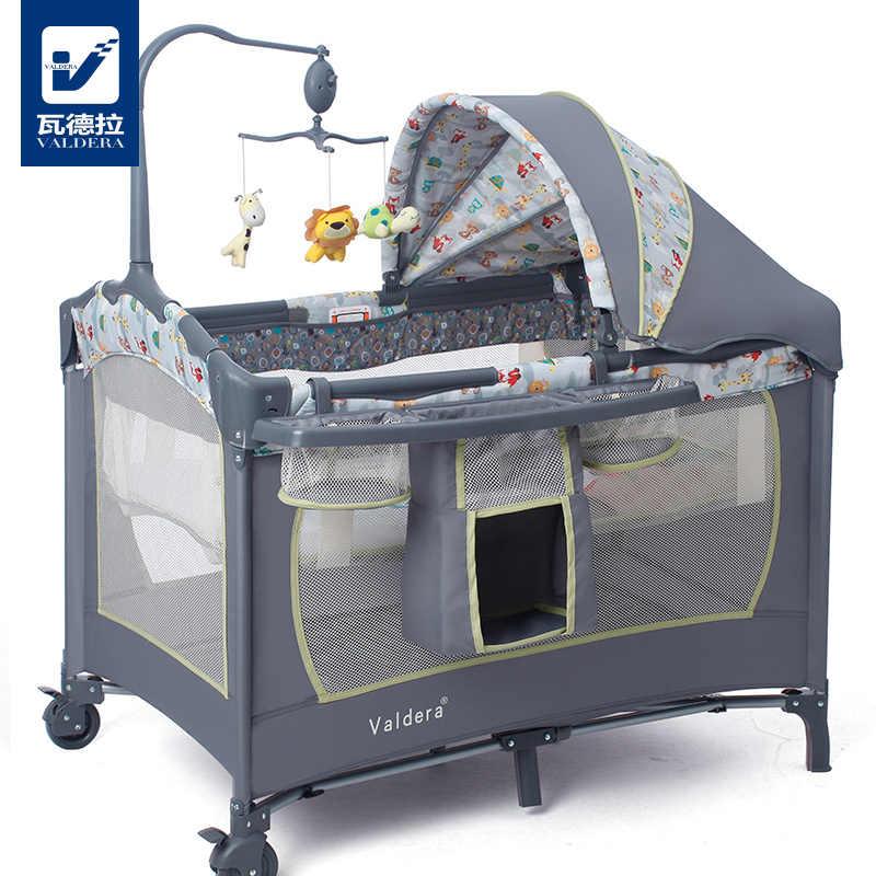 Быстрая доставка! Бренд Valdera, многофункциональная складная детская кровать для путешествий, Модная Портативная игровая кровать, детская кровать