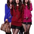 2016 nuevas mujeres de la manera del estilo delgado suéter sexy colorido suéter de 8 colores de invierno vestido de otoño géneros de punto del envío libre 18