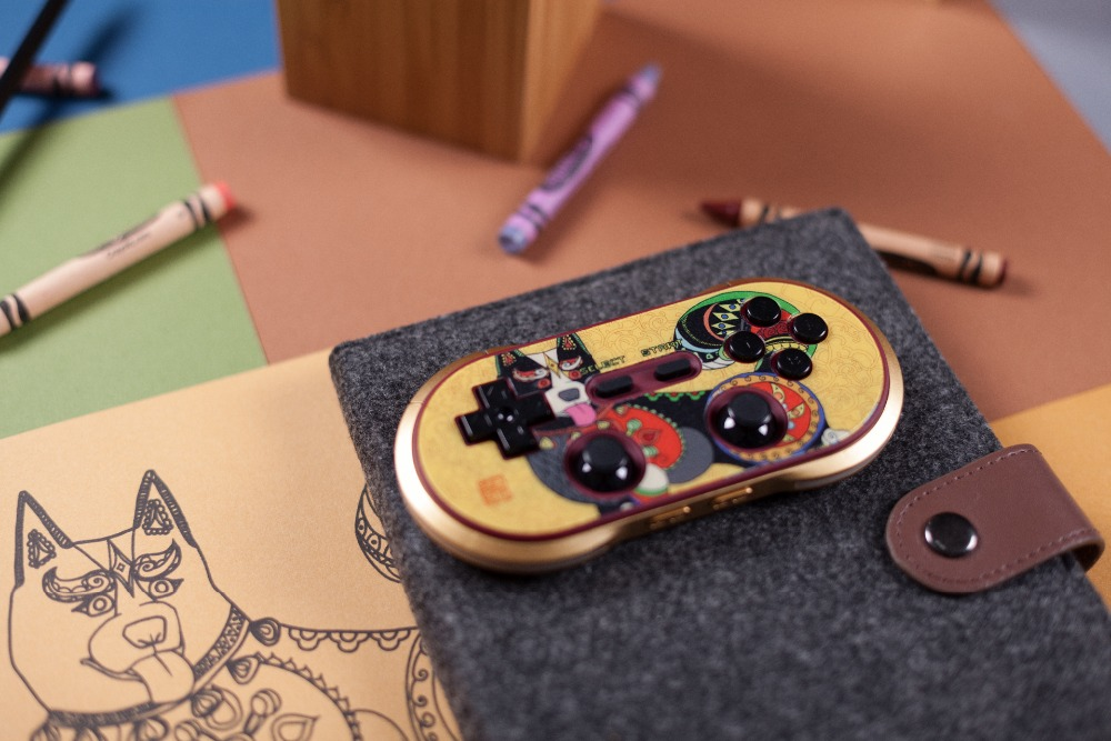 8Bitdo F30 PRO Gamepad Year of the Dog Limited Edition Controller Support Switch, Android, macOS, Steam цена и фото