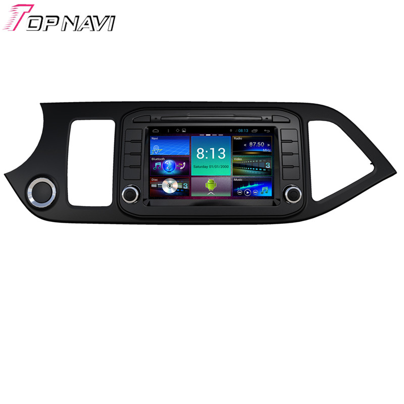 Top Quad Core Android 4.4 Car GPS For KIA Morning With Radio Stereo DVD Map Wifi BT Mirror Link 16GB Flash Free Shipping