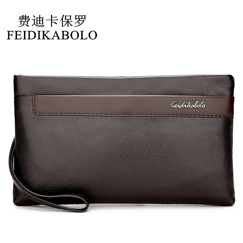 FEIDIKABOLO 2018 New Leather Mens Wallet Man High Quality Design Wallets Clutch Purse Male Handy Bags Business Carteras Mujer fd bolo brand wallet men leather wallets aligator handy bags coin purse monederos carteras hombre mens wallets man clutch bags