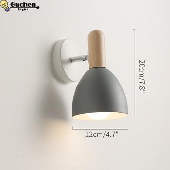 Nordic lampada da parete in legno Semplice led kid camera da letto soggiorno corridoio luce sconce Corridoio cucina Moderna decorazione di illuminazione