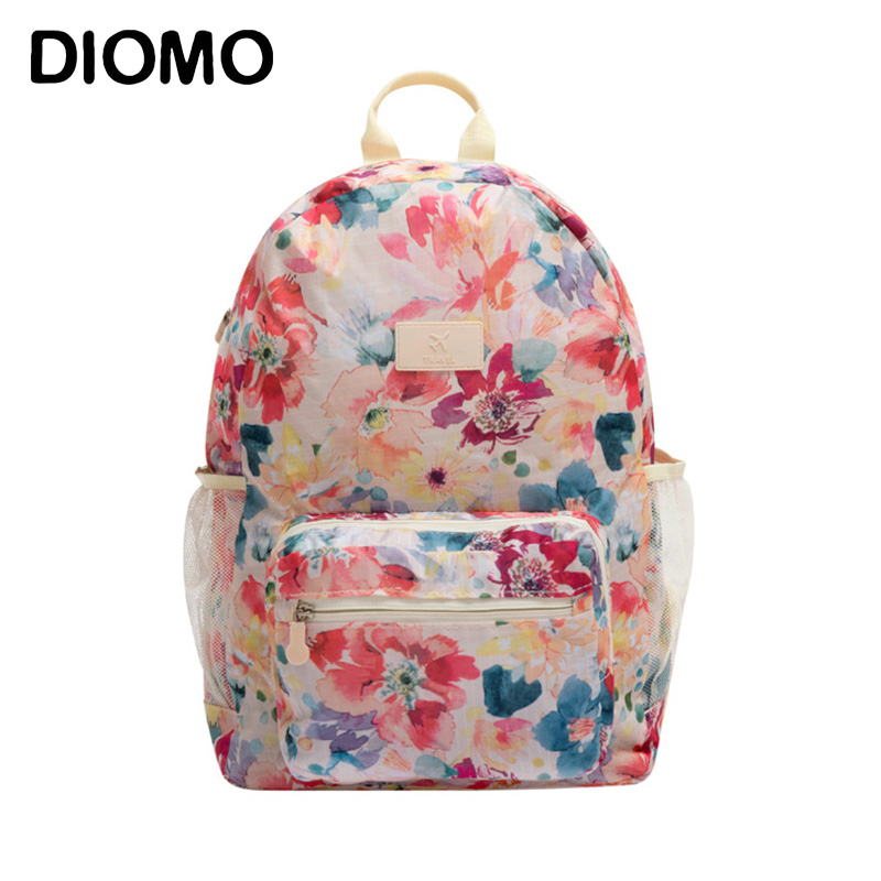 DIOMO Women Backpack Purse Floral Book Bags Waterproof School Bags for  Teenage Girls Bookbag Pink Travel 7e92d7bf4b5e0