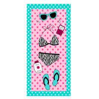 Toalla de playa 2018 nuevas toallas de baño de microfibra Adults70 * 140 cm toalla de playa estampada chica rectangular toalla playa quicky -seco, Reino Unido