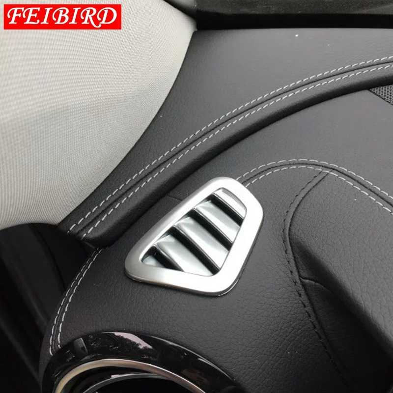 Untuk Mercedes Benz E Class W213 2016 2017 2018 Auto Aksesori Dashboard Sisi AC AC Outlet Vent Cover ABS matte