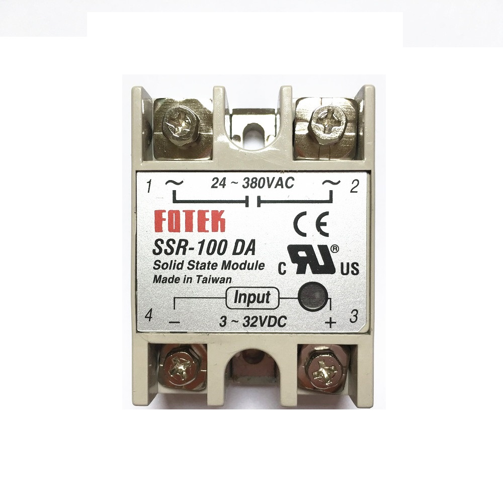 Industrial FOTEK Solid State Relay SSR 100A with Protective Flag SSR-100DA 100A DC control ACIndustrial FOTEK Solid State Relay SSR 100A with Protective Flag SSR-100DA 100A DC control AC