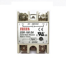 цены FOTEK SSR-100DA 100A single-phase solid state relay DC control AC 3-32VDC/24-380VAC