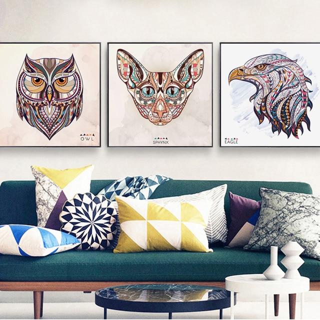 Elegante Poesie Indische Eigenschaften Tier Lion Tiger Porträt Leinwand  Malerei Kunstdruck Poster Wand Bild Für Die