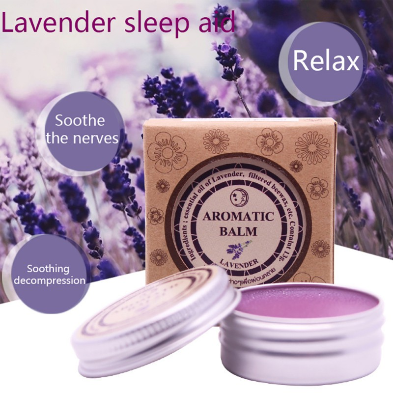 New Help Sleep Soothe Lavender Aromatic Balm Insomnia Relax Aromatic Balm Fragrances & Deodorants