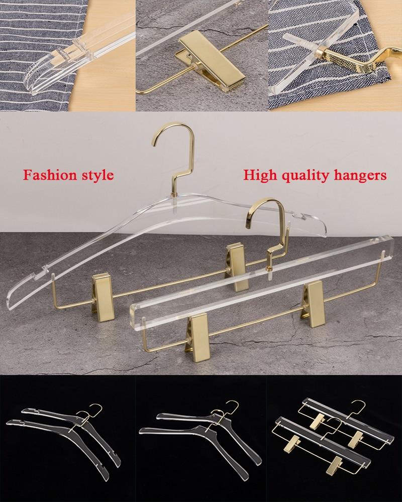 10 x Metal Clip Hanger Clothes Coast Trousers Pants Skirt Dress Coat Hooks Rack