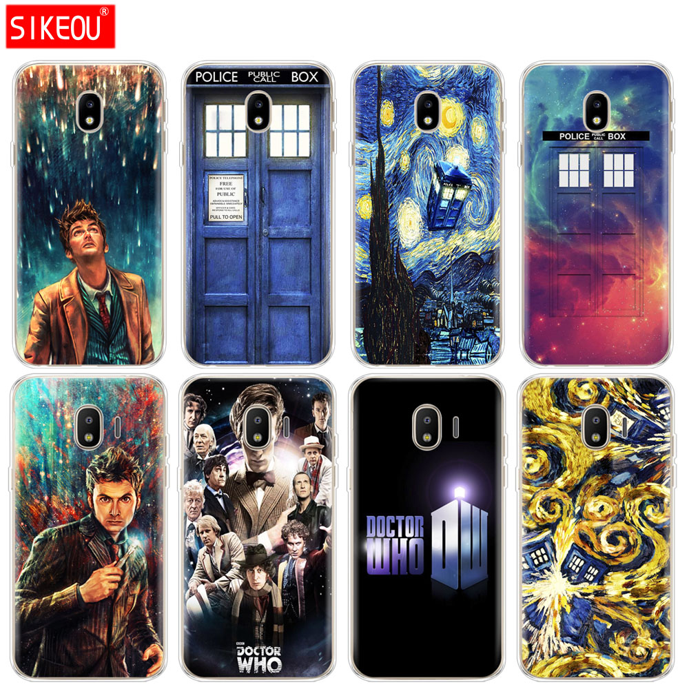 Silicone Cover Phone Case For Samsung Galaxy J3 J5 J7 2017 J330 J530 J730 Pro J2 2018 Doctor Who Fitted Cases