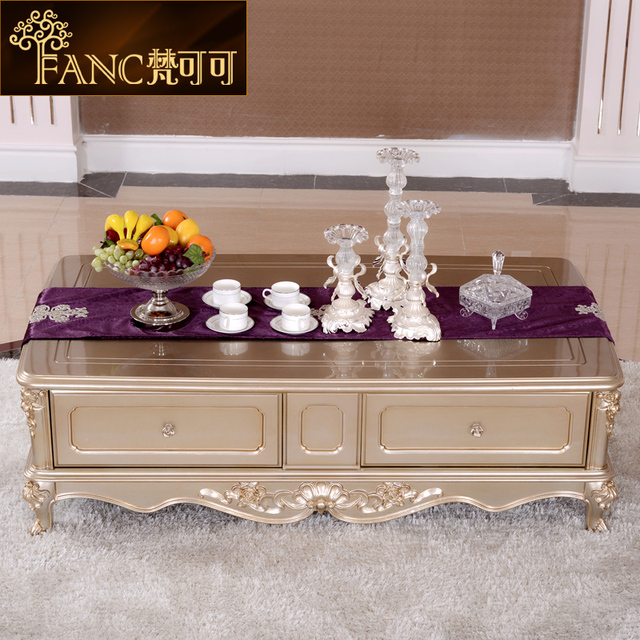 The New High End European Style Living Room Coffee Table With Drawers French Furniture Painted Tea Teasideend